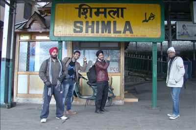 Arriving at Shimla