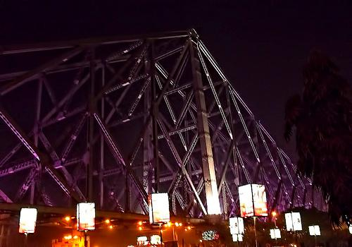 Howrah Bridge at Night