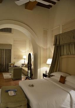 Room at Falaknuma palace hotel