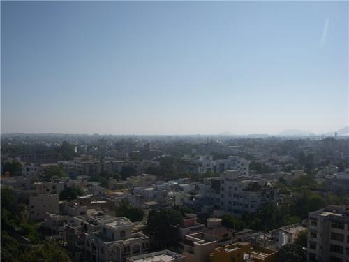 Aerial view of Indore city