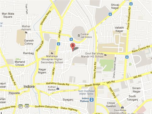 Main localities of Indore