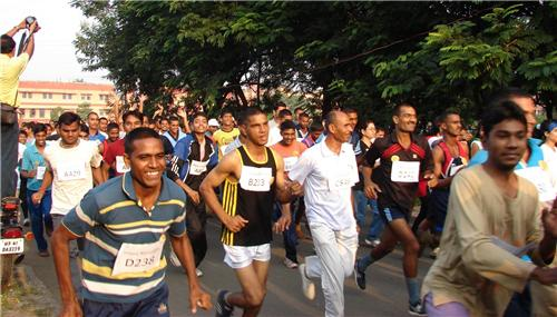 Participants in Indore Marathon