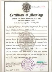 Obtaining Marriage Certificate in Indore