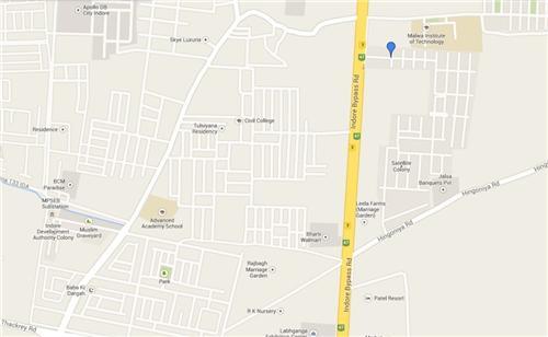 Map of Sakar City Indore