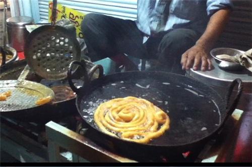 Typical Malwi cuisine at Sarafa Indore