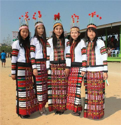Traditional dress of Mizoram