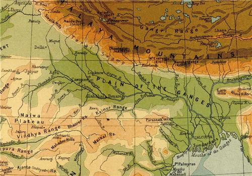 Indo Gangetic Plains, Rivers of India, Ganga and Tributaries Indo Gangetic Plain Map