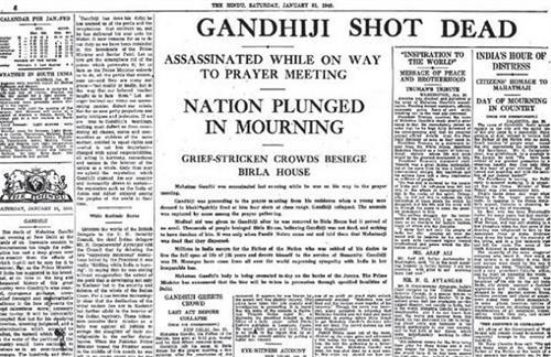 Gandhiji Assassinated