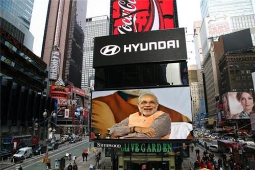 PM Narendra Modi's Speech New York's Times Square