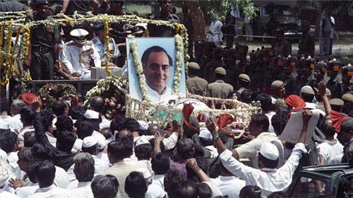 Rajiv Gandi Assassinated