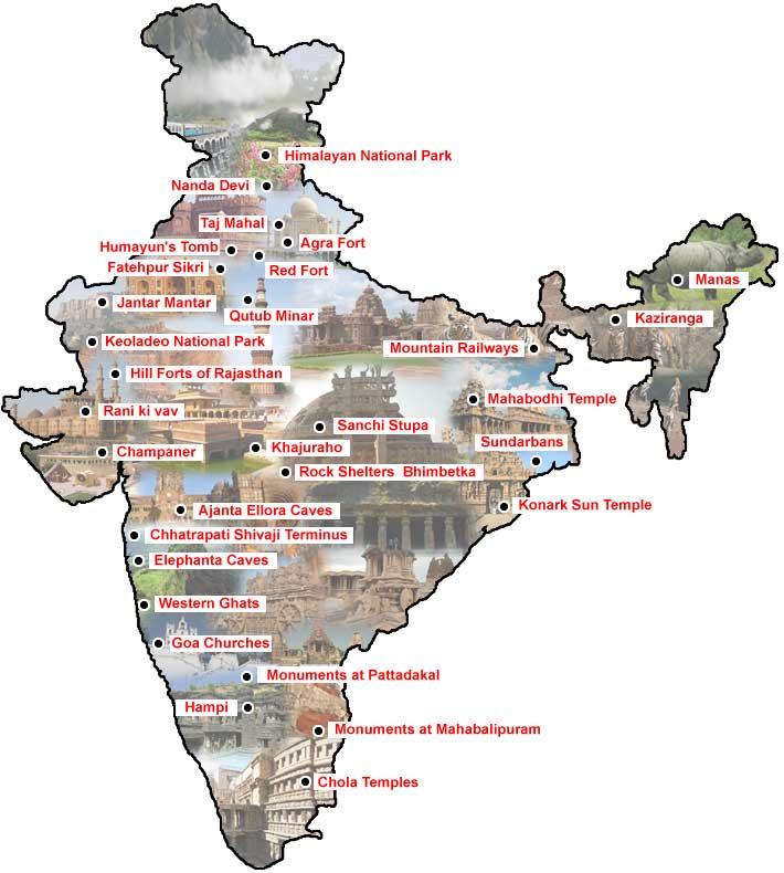 Unesco world heritage sites in india heritage places of india unesco world heritage sites in india gumiabroncs Choice Image