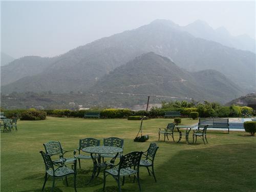 Hotel garden at Katra