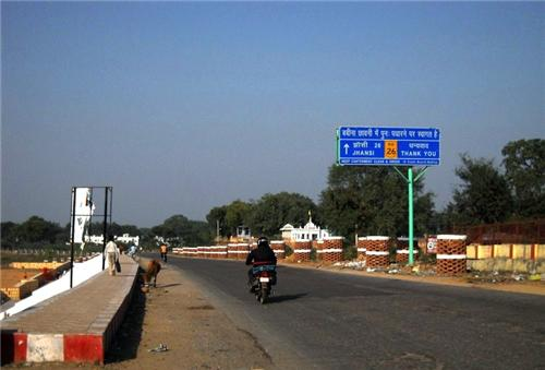Distance from Jhansi