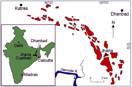 Geography of Jharia