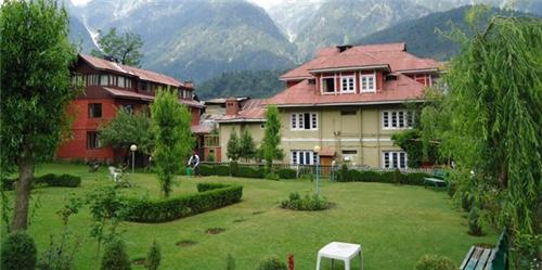 Location of Hotel Volga at Pahalgam in Kashmir Valley