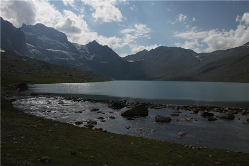 Awesome View of Gangabal Lake in Jammu Kashmir