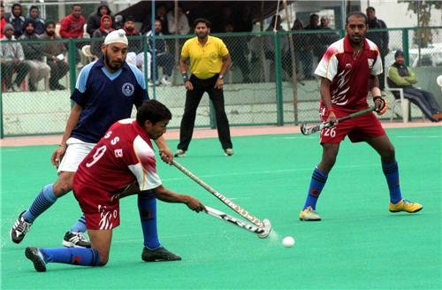 Hockey Tournament going on in Jammu and Kashmir