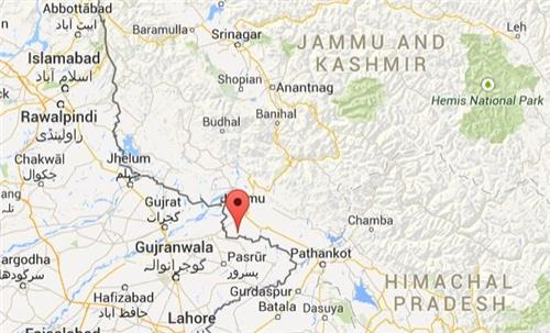 Location of Arnia at Jammu & Kashmir