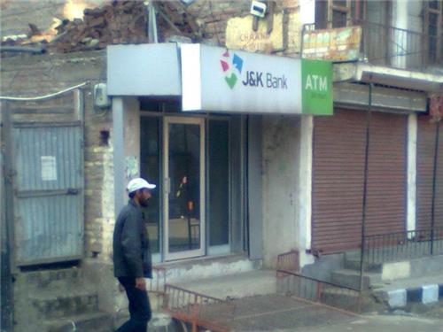 Jasmmu and Kashmir Bank ATM