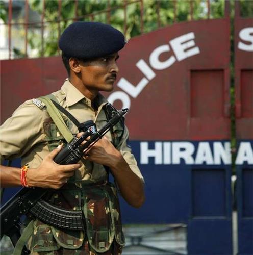 Police in Hiranagar