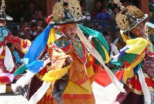 During the Galdan Namchot Festival