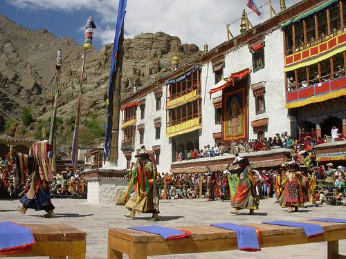 Fun at Hemis Monastery