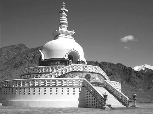 Shanti Stupa in Leh