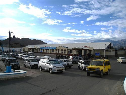 Outside the Leh Airport