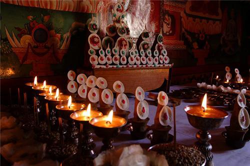 Inside the Likir Monastery