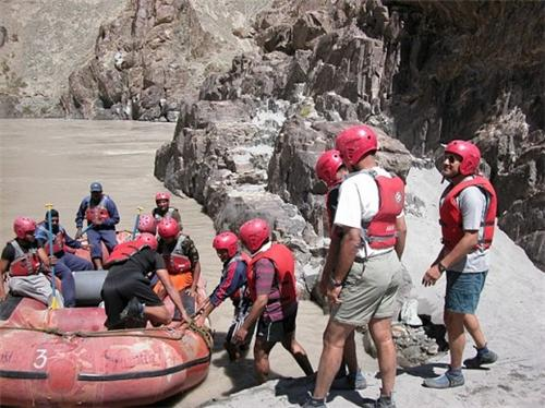 During River Rafting in Leh Ladakh