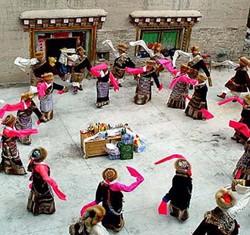 Performance during the Saka Dawa Festival in Ladakh