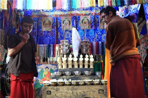 Monks in Sankar Monastery