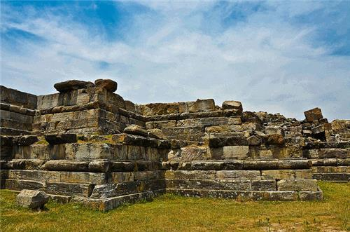 Ruins of the Chaitya in Parihaspura