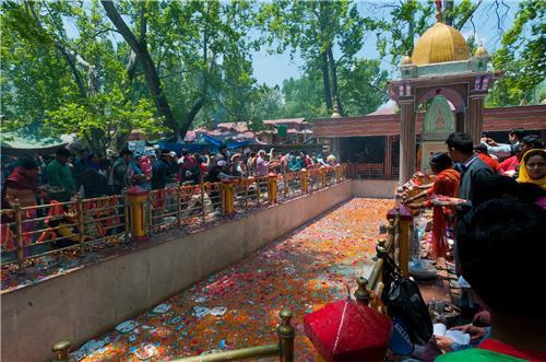 Popular Kheer Bhawani Temple at Uri in Jammu Kashmir