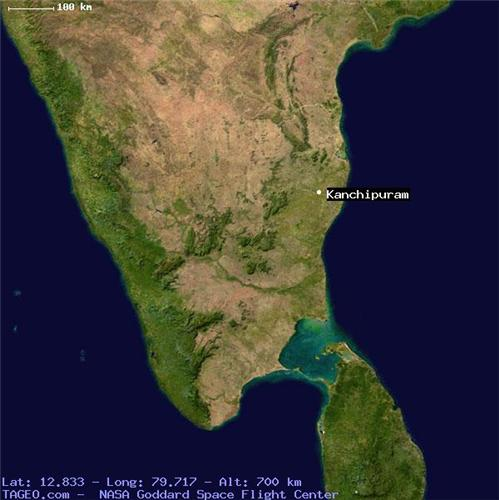 Geography of Kancheepuram