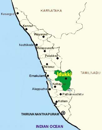Idukki Map