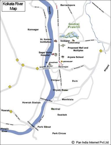Kolkata River Map