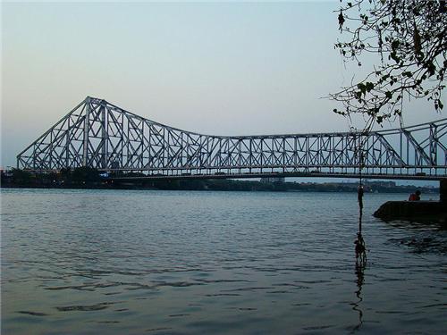 River Ganges under the Howrah Bridge