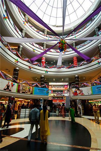 Shopping at Sahara Ganj Mall