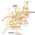 Madurai Tourist Map