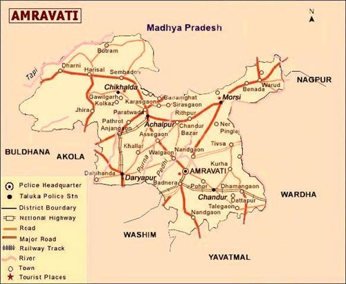 Geography of Amravati