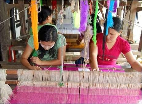 Textile weaving in Manipur