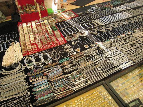 Jewellery in Flea markets