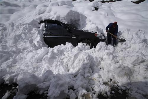 Car Blocked in the Snow