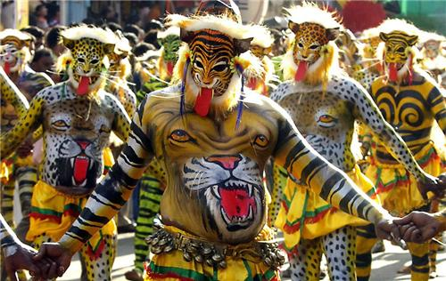 Performers of tiger dance