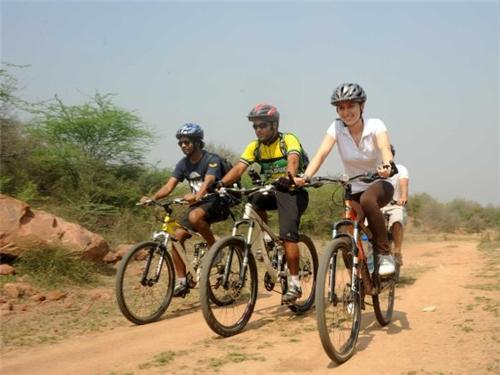 Biking in Mathura
