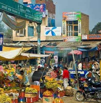 Chowk Bazar in Mathura