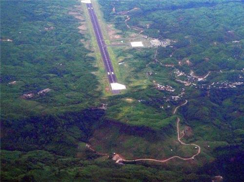 View of Lengpui Airport From Air