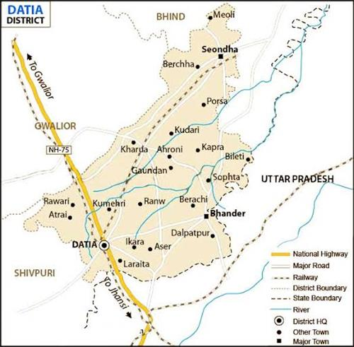 Physical Features of Datia
