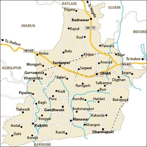 Geography of Dhar